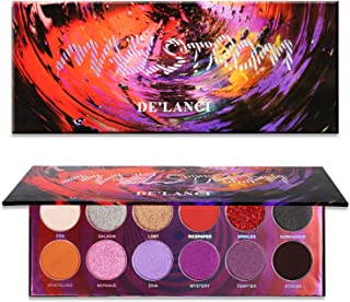 DE'LANCI Maelstrom Eyeshadow Palette 12 Color Eye Shadow Matte Shimmer Makeup Pallet Professional Warm Bronze Colorful Smoky Cosmetic Eye Shadows Highly Pigmented Powder