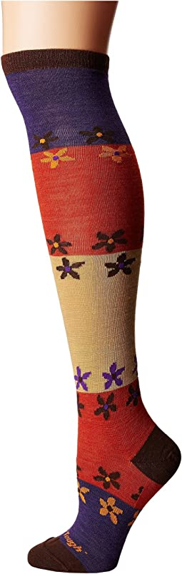 Flowers Knee High Light Socks