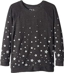 Extra Soft Glittery Starry Night Pullover Sweater (Little Kids/Big Kids)