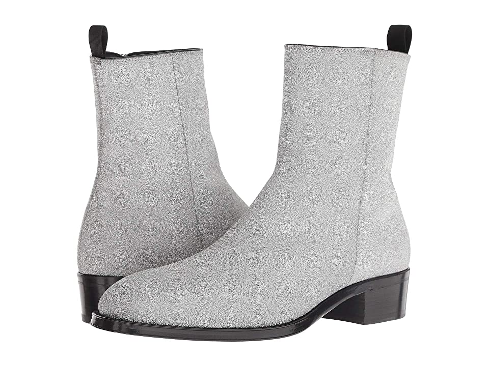 Alexander McQueen Shimmer Boot (Silver/Black) Men
