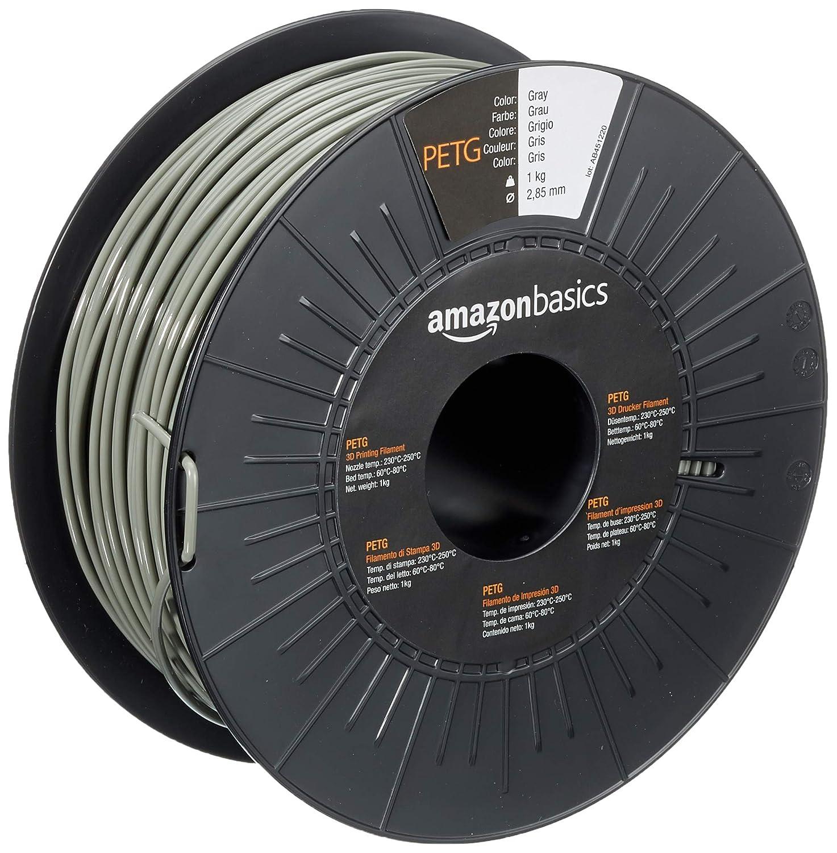 Pack of 2 1KG Spool 3D Printer PETG Filament 1.75MM Dimensional Accuracy +//- 0.02 mm PETG Black+Grey Fit FDM 3D Printer SUNLU 2KG PETG 1.75mm of MasterSpool