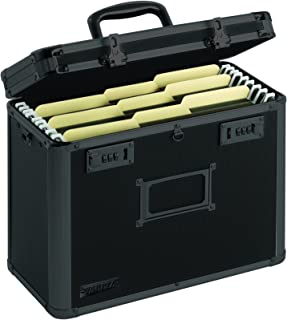 Vaultz Locking Personal File Tote for Letter Sized Documents, Tactical Black (VZ00310)