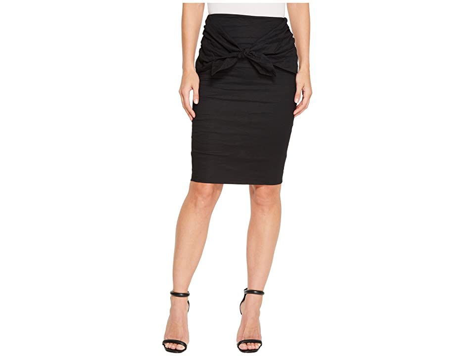 Nicole Miller Brandi Cotton Metal Skirt (Black) Women's Skirt