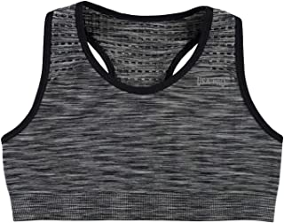 8980a0a3515c USA Pro Kids Girls Seamless Crop Top Junior Sports Bra Crew Neck
