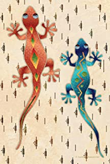 Toland Home Garden Geckos 12.5 x 18 Inch Decorative Artistic Southwest Desert Lizard Garden Flag