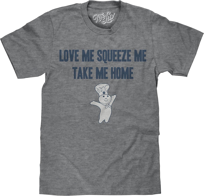 Tee Luv Pillsbury Doughboy T-Shirt - Love Me Squeeze Me Take Me Home Graphic Tee
