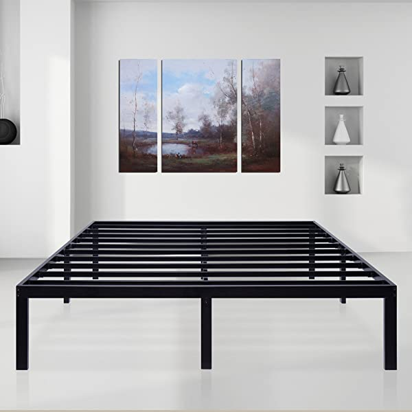 SLEEPLACE SVC14BX01F 2 14 Inch Dura Comfort T Steel Slat Bed Frame Full