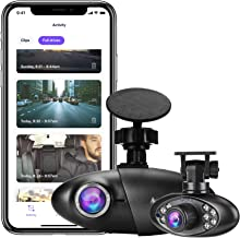 Nexar Pro Dual Dash Cam | SD Card Included | Road & Interior Recording