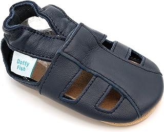 Zapatos de Cuero Suave para bebés. Sandalias para niños y niñas. Antideslizante. 0-6 Meses a 3-4 Años.