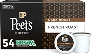 Peet's Coffee French Roast, Dark Roast, 54 Count Single Serve K-Cup Coffee Pods for..