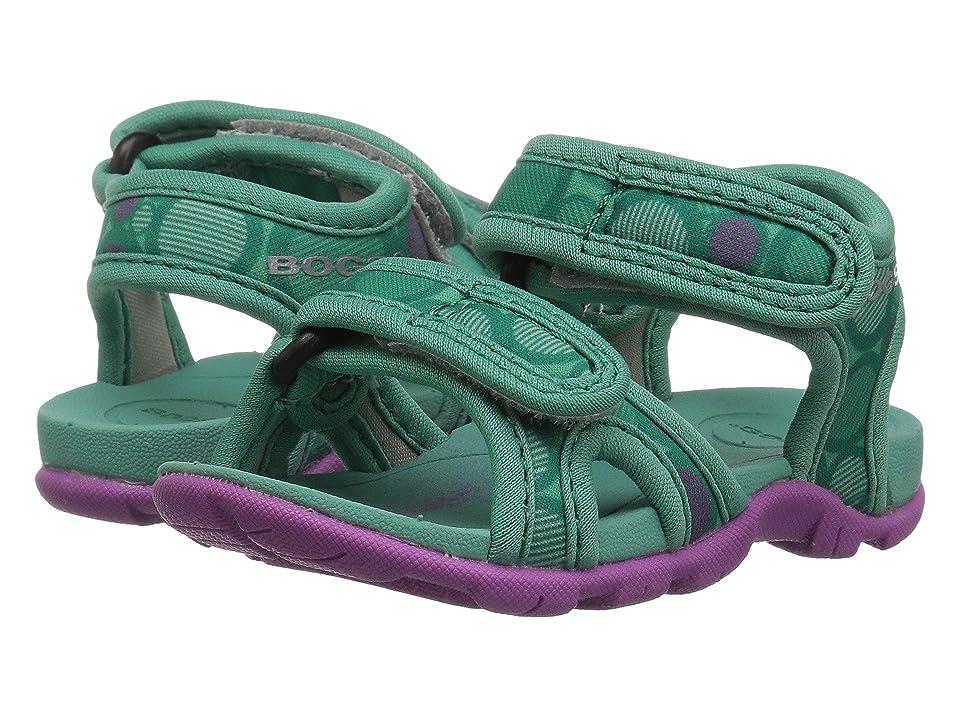 Bogs Kids Whitefish Multi Dot (Toddler) (Turquoise Multi) Girls Shoes