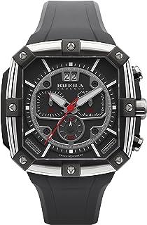 BRERA OROLOGI - Reloj de Cuarzo Analógico para Hombre con Correa de Goma Mod. Supersportivo Square Brss2c4601