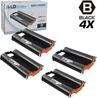 LD Compatible Fax Cartridge with Roll Replacement for Brother PC301 (4-Pack)
