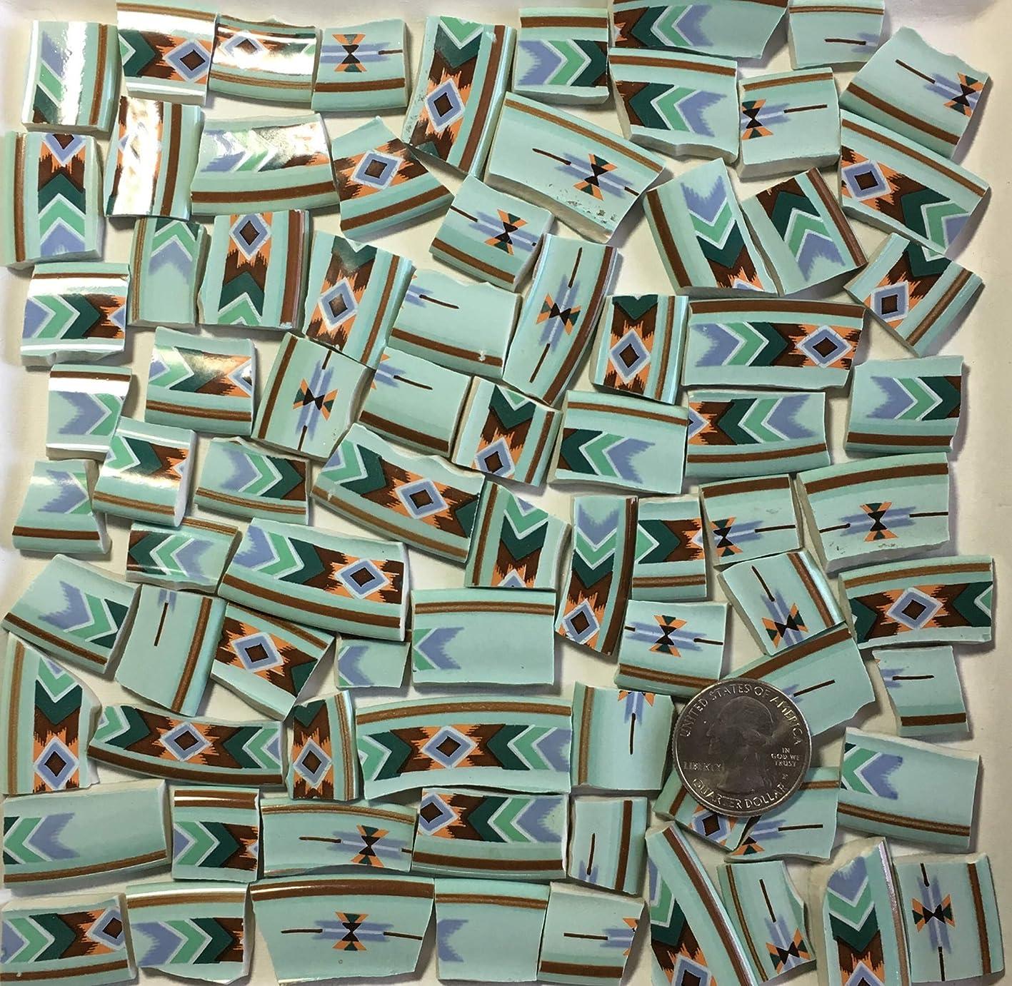 Mosaic Art & Craft Supply ~ Southwest Design Turquoise Blue Rim Tiles (A687) xrecnkkyumo685