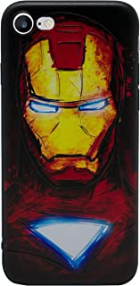 iPhone 5/5s 3D Marvel Silicone Phone Case / Gel Cover for Apple iPhone 5s 5 SE / Screen Protector & Cloth / iCHOOSE / Ironman