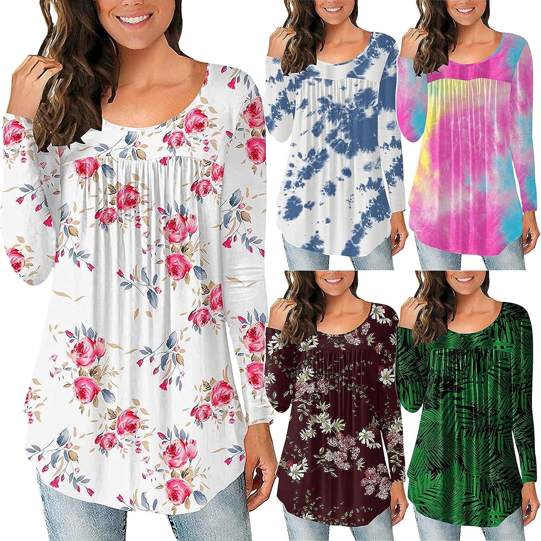 TAINAN Pullover Sweatshirts for Women,Womens Casual Crewneck Sweatshirt Printed Loose Long Sleeve Pullover Tops Shirts