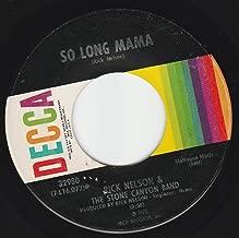 45vinylrecord So Long Mama/Garden Party (7