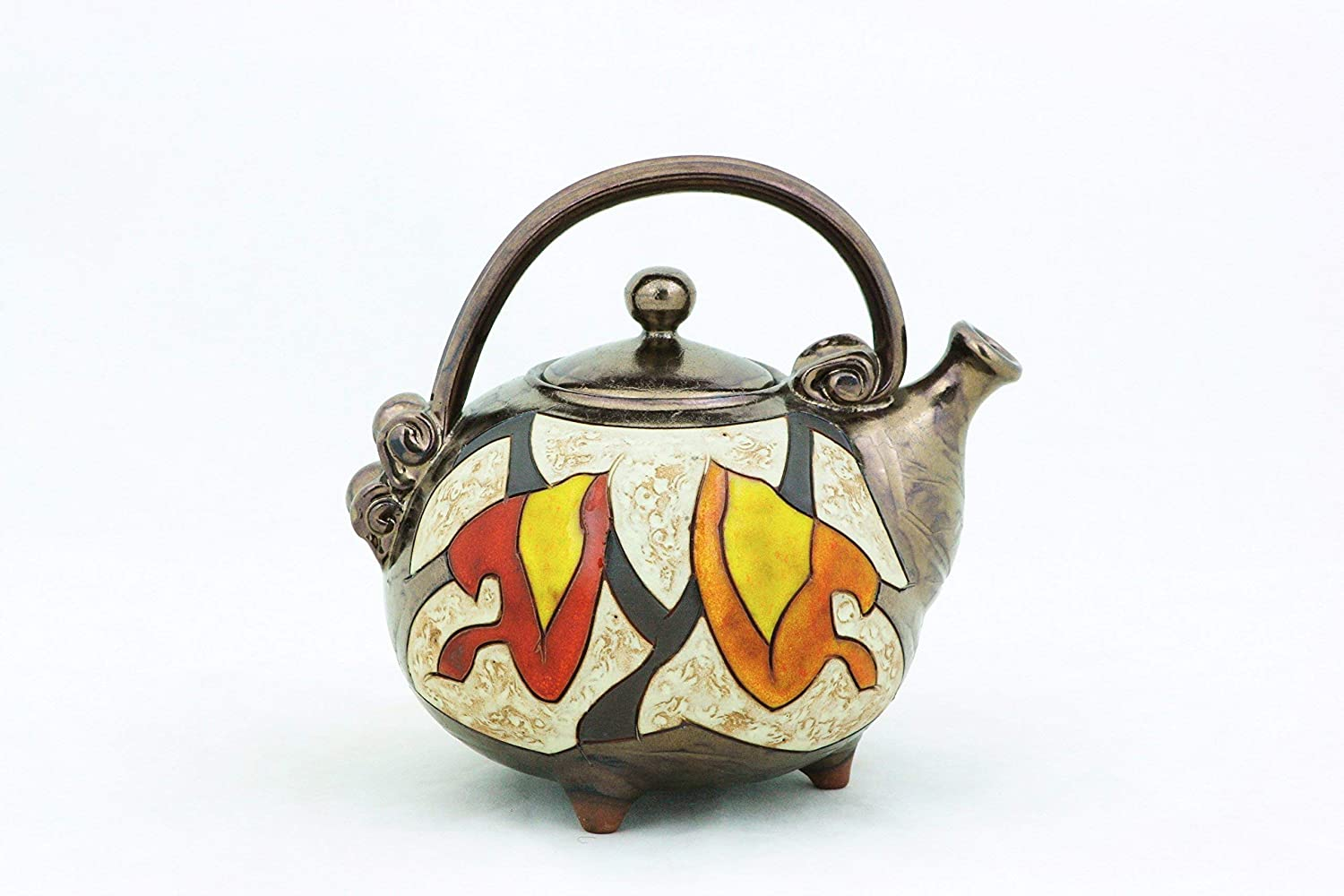 Ceramic handmade teapot Max 62% OFF Art Mail order Unique quirky pottery teapo