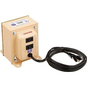 日章工業 変圧器 海外 普及型 AC110V~AC127V→AC100V 1500W NDFシリーズ NDF-1500U