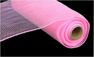 10 Inch x 30 Feet Deco Poly Mesh Ribbon - Pink Non Metallic : RE130222
