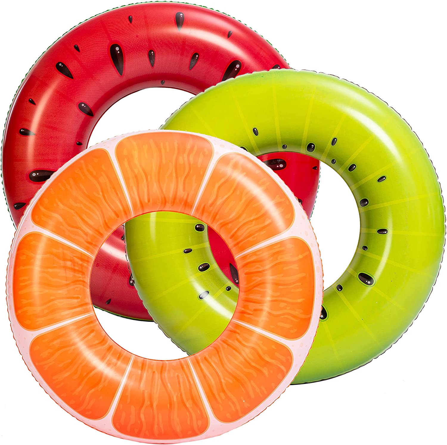 """JOYIN Fruit Pool Floats 32.5"""" Omaha Mall 3 Po Funny Inflatable Pack Limited time trial price"""