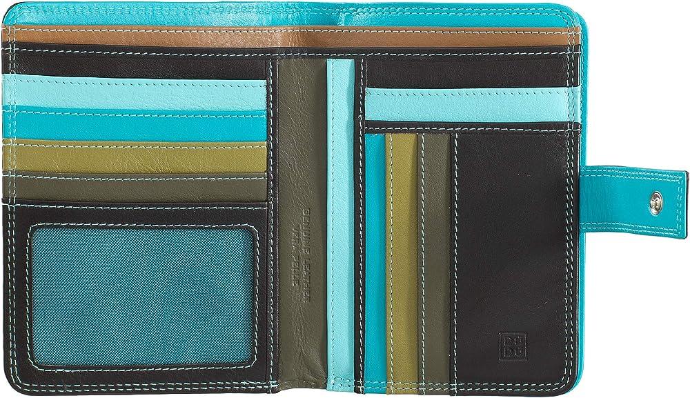 Dudu, portafoglio, porta carte di credito per donna, con protezione rfid, multicolore,  in pelle morbida 8031847135046