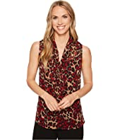 Anne Klein - Tie Front Sleeveless Blouse