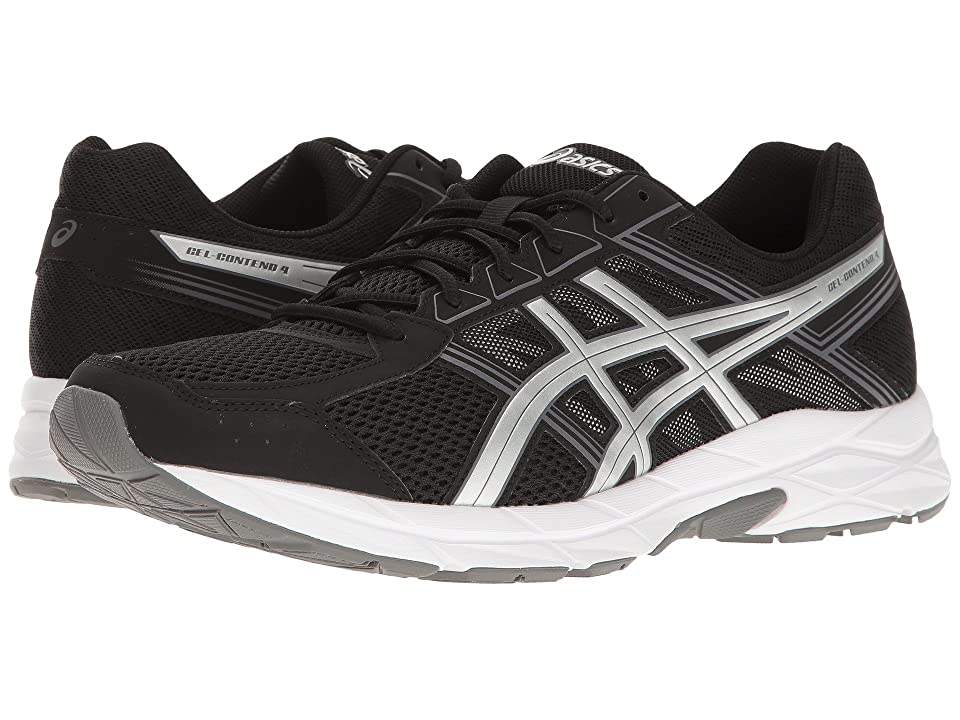 ASICS GEL-Contend 4 (Black/Silver/Carbon) Men's Running Shoes