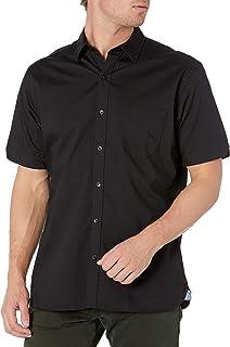 Van Heusen Men's Classic Fit Never Tuck Short Sleeve Solid Button Down Shirt