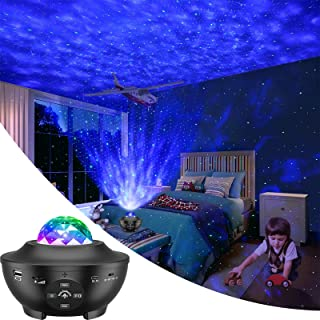 LBell Night Light Projector 3 in 1 Galaxy Projector Star Projector w/LED Nebula Cloud for Baby Kids Bedroom/ Game Rooms/ Home Theatre/ Night Light Ambiance with Bluetooth Music Speaker