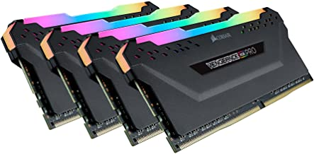 Corsair Vengeance RGB Pro 32GB (4x8GB) DDR4 3600 (PC4-28800) C18 Desktop Memory – Black