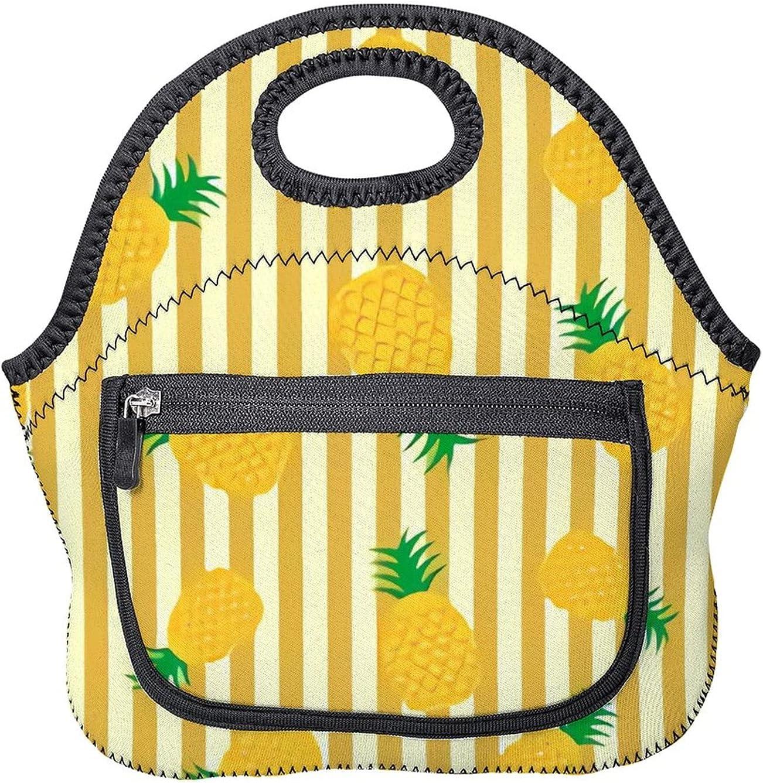 Upgraded Alternative Max 44% OFF dealer lunch bag,Pineapple Background,reusab Pattern