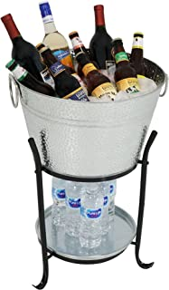 large ice bucket with stand