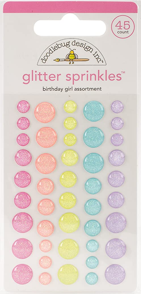 Doodlebug FAIR5544 Sprinkles Adhesive Glitter Enamel Dots, Monster