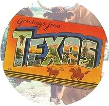 Thirstystone Stoneware Coaster Set, Greetings From Texas