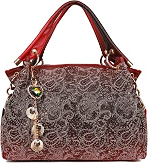 EGOGO Leather Ladies Shoulder Bag Hollow Tote Bag for Women's Hobo Handbags E522-1