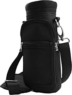 Water Bottle Holder Carrier Flask Bottles Adjustable Shoulder Hand Strap 2 Pocket Sling Neoprene Sleeve Hiking Travel 16oz 17oz 20oz 24oz 25oz 32oz 40oz