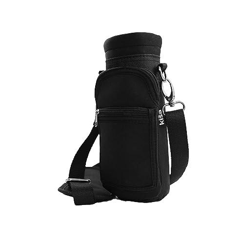Kisa Water Bottle Holder Carrier Flask Bottles Adjustable Shoulder Hand  Strap 2 Pocket Sling Neoprene Sleeve a764da6481b24