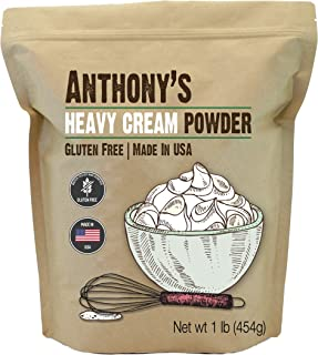 Anthony's Heavy Cream Powder, 1lb, Batch Tested Gluten Free, No Fillers or Preservatives, Keto Friendly, Product of USA