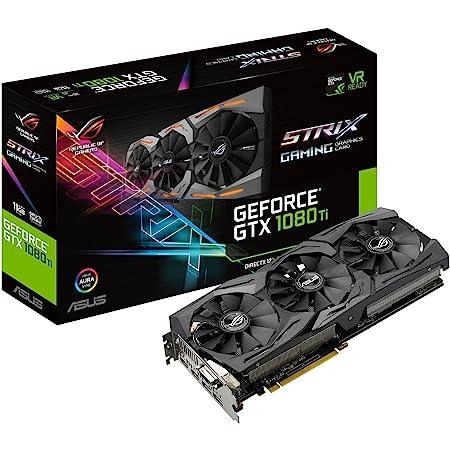 ASUS ROG STRIX GeForce GTX 1080 TI 11GB VR Ready 5K HD Gaming Graphics Card (ROG-STRIX-GTX1080TI-11G-GAMING) (Renewed)