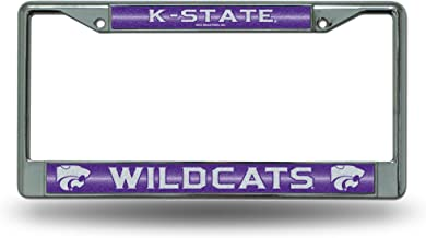 Rico Industries NCAA unisex-adult Bling Chrome License Plate Frame with Glitter Accent