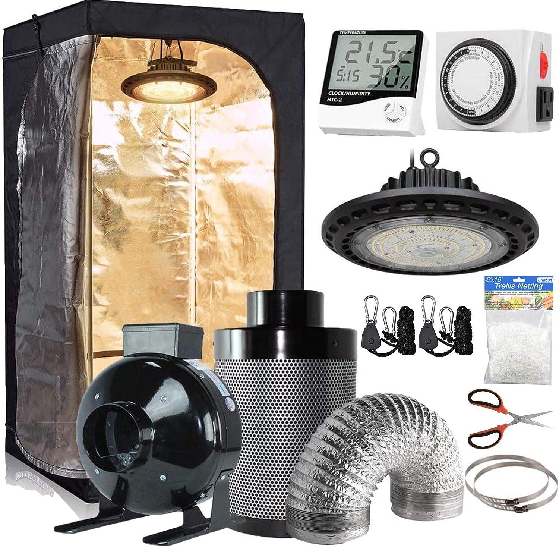 CDMALL Grow Tent Complete Kit Five Industry No. 1 Over item handling Room with Dark 32''x32''x63''