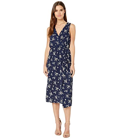 American Rose Diana V-Neck Sleeveless Dress (Navy) Women