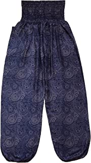 Love Quality Ladies Navy Blue Baggy Pants Thai Graphic Design