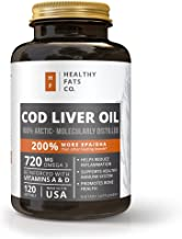 Premium Cod Liver Oil Softgels Reinforced with Vitamin A & D and Best for Omega 3 Fatty Acids, EPA and DHA by the Healthy Fats Co.