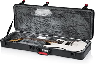 Gator Cases Molded Flight Case for Electric Guitar with Internal LED Lighting and TSA Approved Locking Latch (GTSA-GTRELEC-LED)