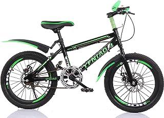 "YFNIAO Unisex Youth Disc Brake Youth Mountain Bike 18"", Green, Size L"