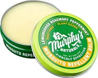 Murphy's Naturals Mosquito Repellent Balm | Anti-Mosquito DEET Free Plant-Based Ingredients Include Lemongrass, Rosemary, Peppermint and Beeswax | Made in USA | Travel Size 2.0 oz