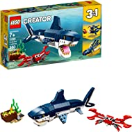 LEGO Creator 3in1 Deep Sea Creatures 31088 Make a Shark, Squid, Angler Fish, and Crab with this...
