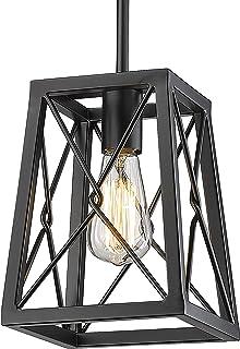 YEEHOME 7 Inches Farmhouse Pendant Light,1-Light Metal...